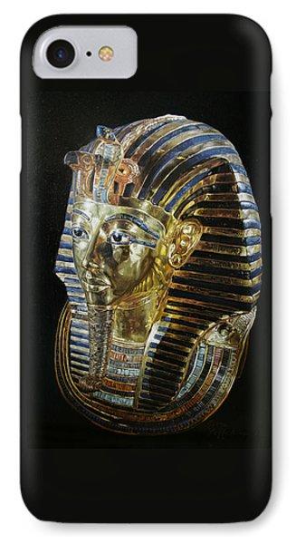 IPhone Case featuring the painting Tutankamon's Golden Mask by Leena Pekkalainen