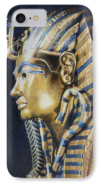 IPhone Case featuring the mixed media Tutankhamon by Constance Drescher