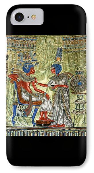 IPhone Case featuring the painting Tutankhamon's Throne by Leena Pekkalainen