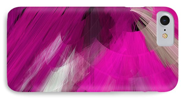 Tutu Stage Left Abstract Fuchsia Phone Case by Andee Design