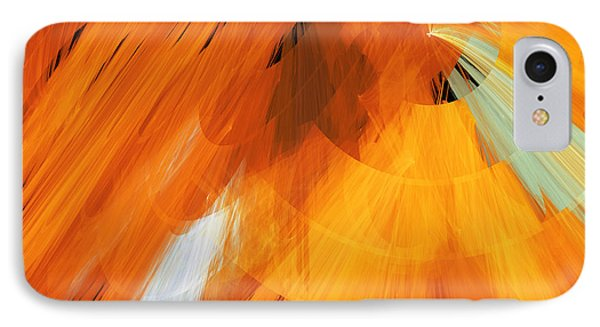 Tutu Stage Left Abstract Orange Phone Case by Andee Design