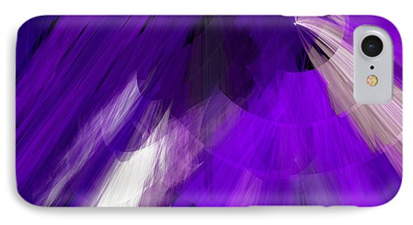 Tutu Stage Left Abstract Purple Phone Case by Andee Design