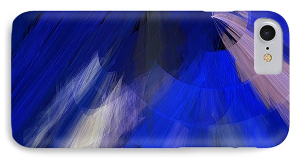 Tutu Stage Left Blue Abstract Phone Case by Andee Design