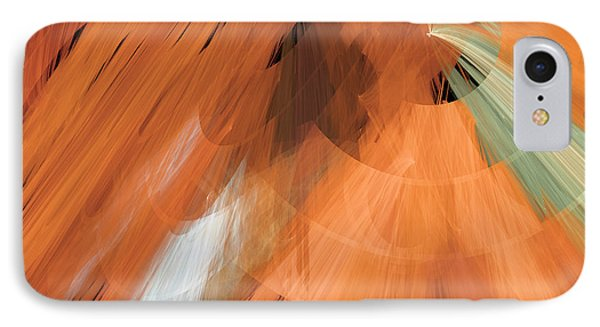 Tutu Stage Left Peach Abstract Phone Case by Andee Design
