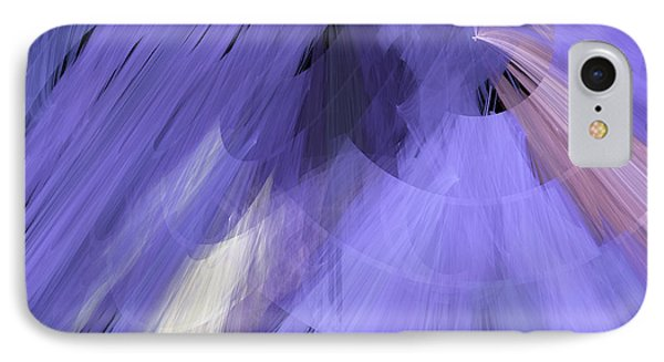 Tutu Stage Left Periwinkle Abstract Phone Case by Andee Design