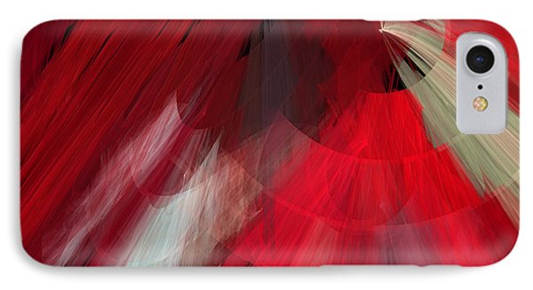 Tutu Stage Left Red Abstract Phone Case by Andee Design