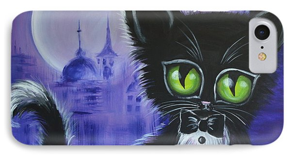 IPhone Case featuring the painting Tuxedo Cat by Agata Lindquist