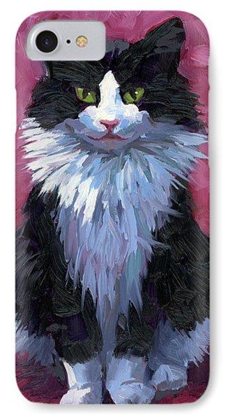 Tuxedo Cat IPhone Case by Alice Leggett