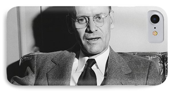 Tv Pioneer Philo Farnsworth IPhone Case by Underwood Archives