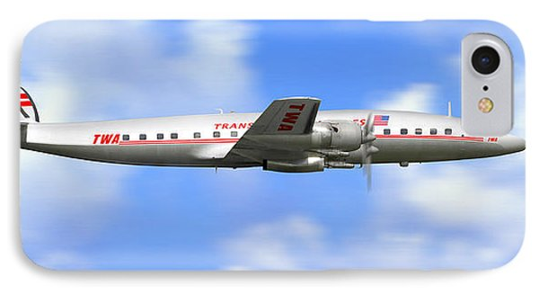 Twa Constellation Airliner IPhone Case by Mike McGlothlen