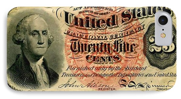 Twenty Five Cent 4th Issue U.s. Fractional Currency Fr 1302 IPhone Case