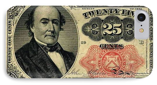 Twenty Five Cents 5th Issue U.s. Fractional Currency IPhone Case