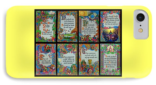 Twenty Third Psalm Collage 2 IPhone Case by Tikvah's Hope