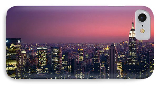 Twilight, Aerial, Nyc, New York City IPhone Case by Panoramic Images