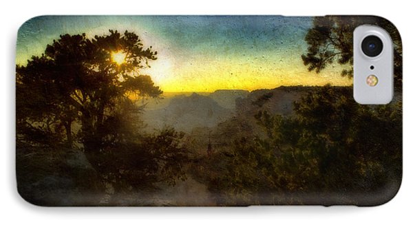 Twilight At The Canyon Phone Case by Ellen Heaverlo