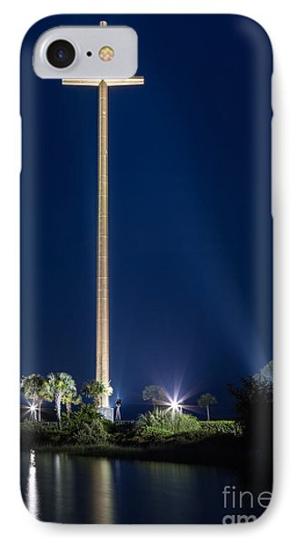Twilight At The Great Cross Mission Nombre De Dios St. Augustine Florida IPhone Case by Dawna  Moore Photography