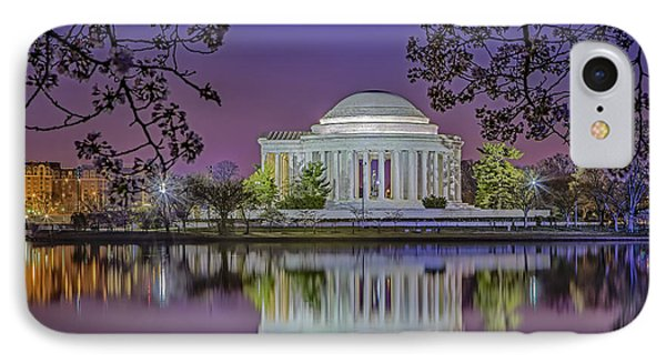 Twilight At The Thomas Jefferson Memorial  Phone Case by Susan Candelario