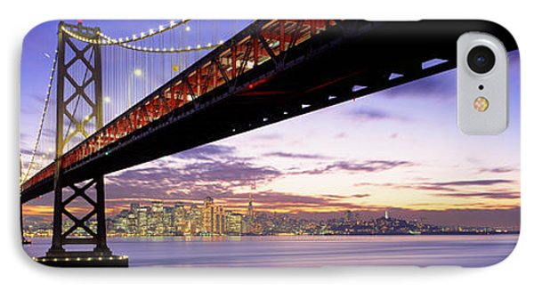 Twilight, Bay Bridge, San Francisco IPhone Case by Panoramic Images