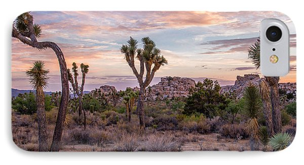 Twilight Comes To Joshua Tree Phone Case by Peter Tellone