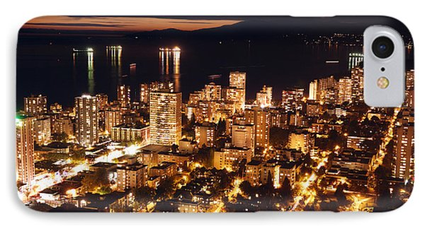 IPhone Case featuring the photograph Twilight English Bay Vancouver Mdlxvii by Amyn Nasser