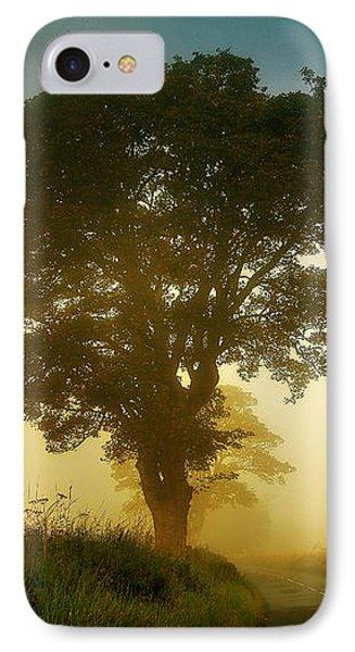 Twilight Guardians. Misty Roads Of Scotland Phone Case by Jenny Rainbow