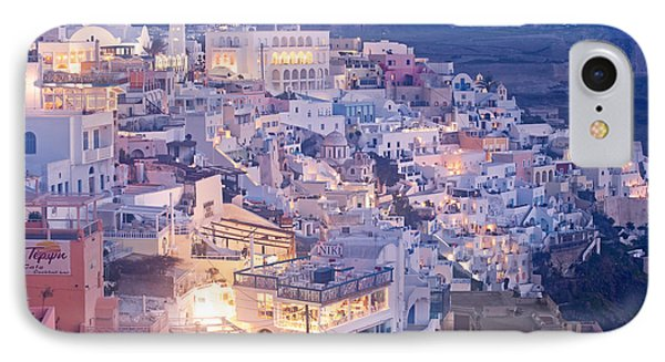 Twilight In Santorini IPhone Case by Aiolos Greek Collections