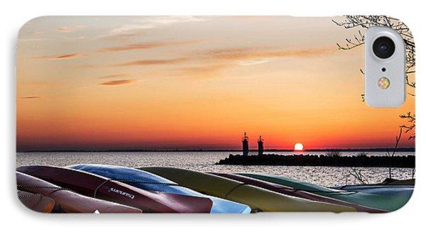 Twilight Kayaks Phone Case by Barbara McMahon