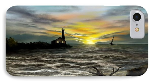 Twilight On The Sea IPhone Case by Ron Grafe