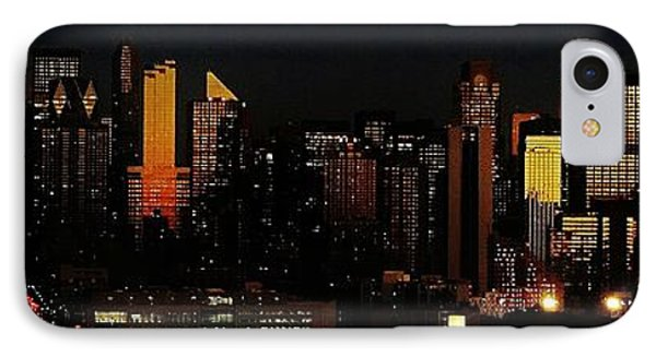 IPhone Case featuring the photograph Twilight Reflections On New York City by Lilliana Mendez