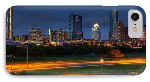 IPhone Case featuring the photograph Twilight Skyline by Dave Files