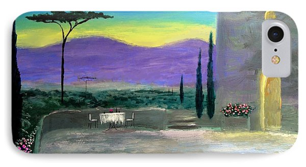 IPhone Case featuring the painting Twilight Tuscany by Larry Cirigliano