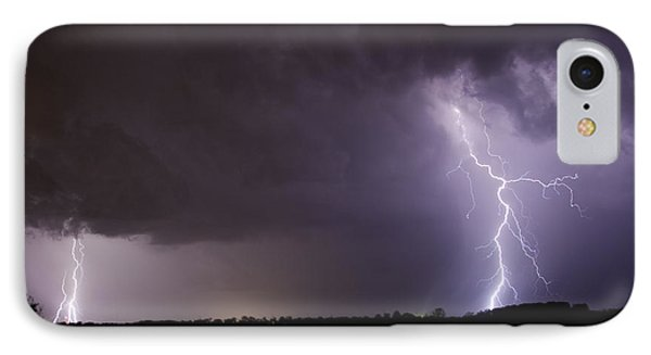 Twin Bolts IPhone Case by John Crothers