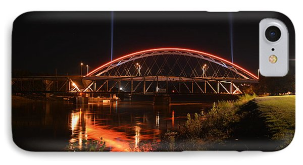 Twin Bridges At Night IPhone Case by Keith Stokes