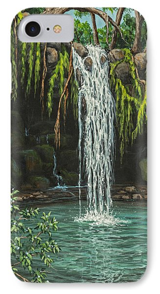 IPhone Case featuring the painting Twin Falls by Darice Machel McGuire