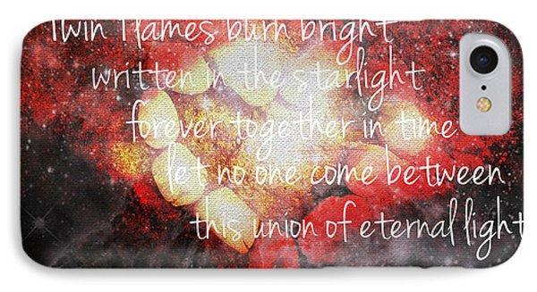 Twin Flames IPhone Case by Absinthe Art By Michelle LeAnn Scott