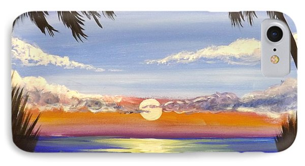 IPhone Case featuring the painting Twin Palms by Darren Robinson