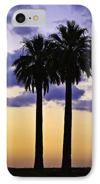 Twin Palms IPhone Case by Sherri Meyer