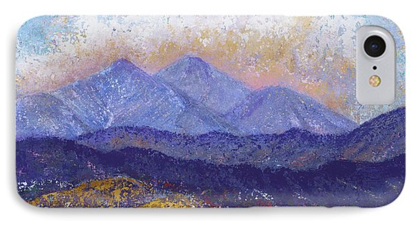 IPhone Case featuring the painting Twin Peaks Above The Fruited Plain by Margaret Bobb