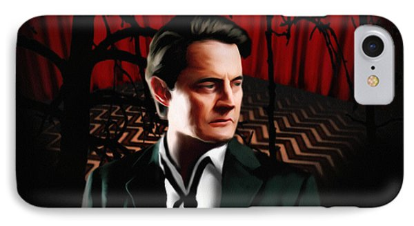 Twin Peaks  Dale Cooper IPhone Case by Jeff DOttavio
