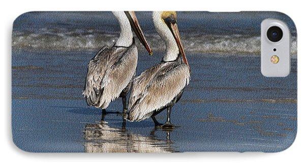 Twin Pelicans Phone Case by Deborah Benoit
