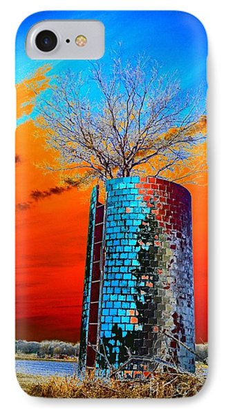 Twin Silos IPhone Case by Karen Newell