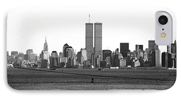 Twin Towers From Staten Island IPhone Case by John Rizzuto