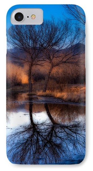 IPhone Case featuring the photograph Twin Trees by Kristal Kraft