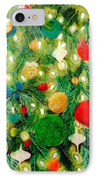Twinkling Christmas Tree IPhone Case by Renee Michelle Wenker