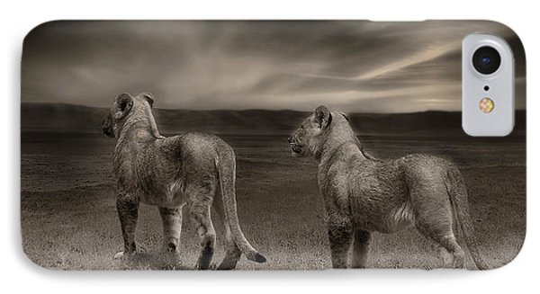 IPhone Case featuring the photograph Twins 2 by Christine Sponchia