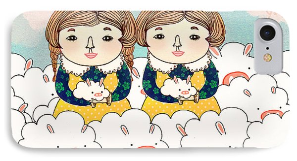 Twins IPhone Case by Yoyo Zhao