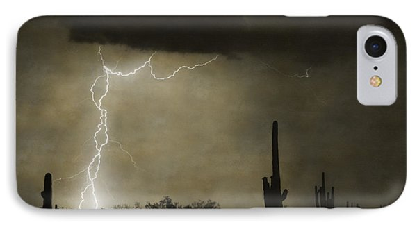 Twisted Desert Lightning Storm Phone Case by James BO  Insogna