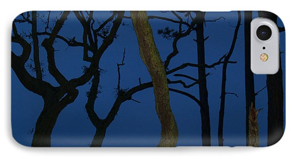 Twisted Trees At Twilight Phone Case by Anna Lisa Yoder