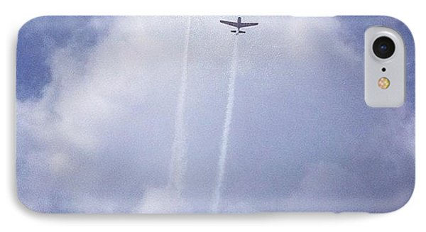 Two Airplanes Flying IPhone Case by Christy Beckwith