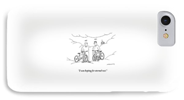 Two Angels With Bicycles Converse. Another Angel IPhone Case